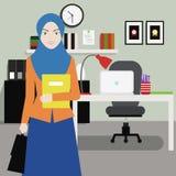 Работник офиса женщин иллюстрация штока