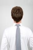Работник офиса задом наперед стоковое изображение