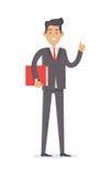 работник офиса предпосылки зеленый Богатый человек в дорогом костюме Стоковая Фотография
