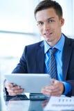 работник офиса предпосылки зеленый Стоковая Фотография