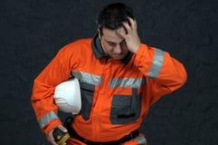 работник подметать шахты Стоковое Изображение RF