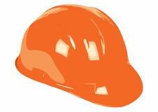 работник померанца шлема строителя Стоковые Фотографии RF