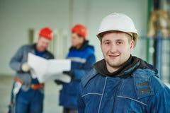 Работник построителя конструкции на месте Стоковая Фотография RF