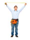 работник правителя конструкции измеряя Стоковые Изображения