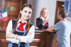 Работник приема гостиницы стоковое фото rf