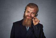 Работник профессионального обслуживания клиента репрезентивный стоковые фотографии rf