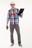 работник руки сверла конструкции Стоковые Фотографии RF