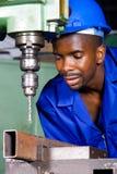 работник синего воротничка Стоковая Фотография
