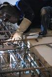 Работник сидя искрящся структура учреждения Стоковые Фото