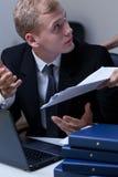 Работник споря с его боссом Стоковое фото RF