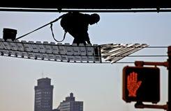 работник строительной площадки Стоковое Фото
