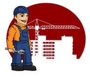работник строительной площадки Стоковые Фото