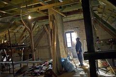 работник строительной площадки Стоковые Изображения RF