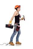 Работник с toolbelt Стоковые Фото