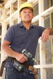работник тимберса рамки конструкции здания Стоковые Изображения