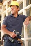работник тимберса рамки конструкции здания Стоковое фото RF