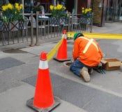 работник тротуара Стоковые Фото