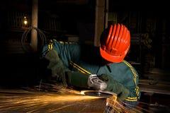 работник тяжелой индустрии точильщика стоковое фото rf