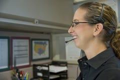 Работник центра телефонного обслуживания стоковое фото