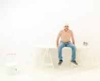 Работник человека домашней работы стоковые фотографии rf