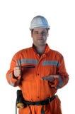 работник шахты предлагая Стоковые Изображения RF
