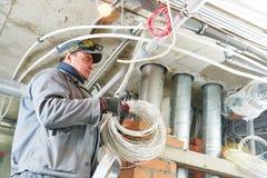 Работник электрика Стоковое фото RF