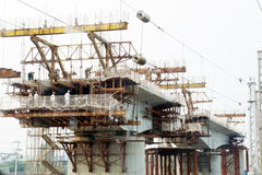 работник railway конструкции моста китайский Стоковая Фотография