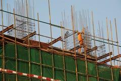работник scaffoldings Стоковое Фото