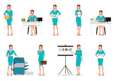 Работницы дела в умном костюме изолированном на белизне иллюстрация вектора