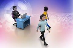 Работодатель и заявитель, концепция рабочего места работы Стоковое Изображение