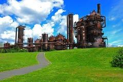 работы завода газа стоковые изображения