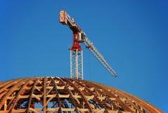 работы купола конструкции здания стоковое фото rf