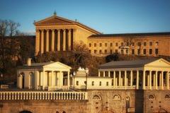 Работы музея изобразительных искусств и воды Филадельфии Стоковое Изображение RF