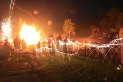 Работы огня Стоковые Изображения RF