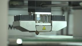 Работы принтера 3D сток-видео