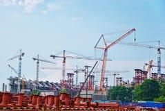 работы стадиона конструкции стоковое изображение rf