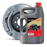 Рабочая жидкость для гидравлического тормоза вектора с векторами масла биодизеля дискового тормоза Стоковая Фотография