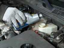 Рабочая жидкость для гидравлического тормоза покрывая вверх Стоковая Фотография RF