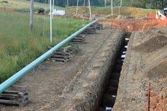 Рабочая зона газопровода Стоковые Изображения