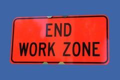 рабочая зона знака конца Стоковые Изображения RF