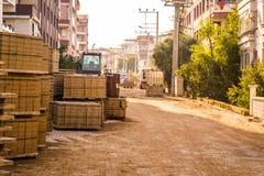 Рабочая зона строительства дорог Стоковые Изображения RF