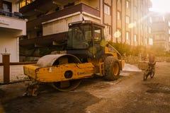 Рабочая зона строительства дорог Стоковое фото RF
