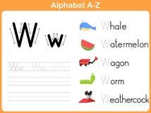Рабочее лист алфавита следуя иллюстрация вектора