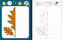 Рабочее лист Preschool Стоковое Изображение RF