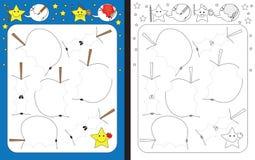 Рабочее лист Preschool Стоковые Изображения RF