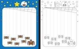 Рабочее лист Preschool Стоковые Фото