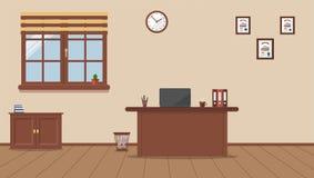 Рабочее место в офисе на предпосылке сливк бесплатная иллюстрация