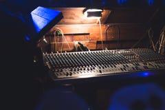 Рабочее место звукооператора Стоковое фото RF