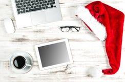 рабочее место офиса изображения иллюстраций 3d Украшение рождества кофе Праздники дела Стоковое Изображение RF