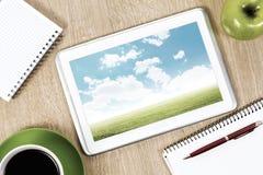 рабочее место офиса изображения иллюстраций 3d Стоковое Изображение RF
